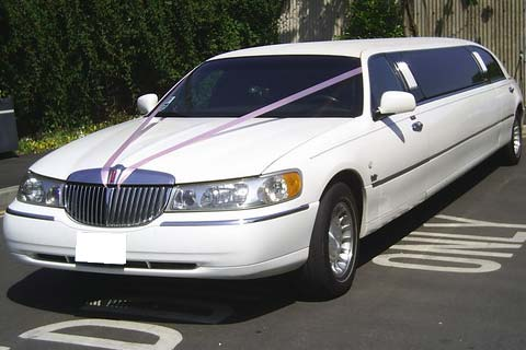 White Towncar Limo